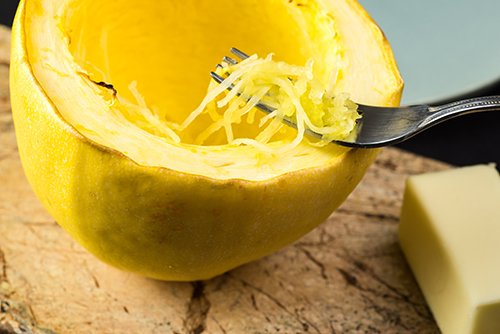 Spaghetti Squash, Shaved Fennel and Warm Apple Salad - HealnCure